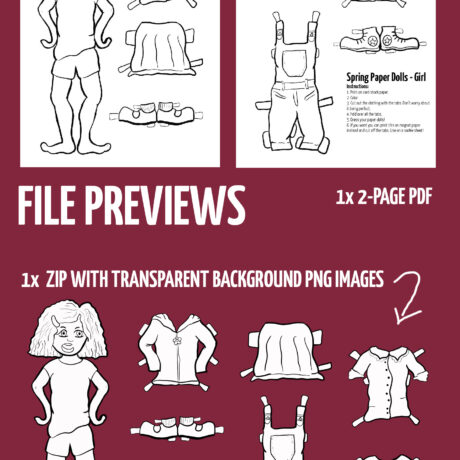 paper dolls previews girl